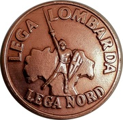 2 Lire (Lega Lombarda) – avers