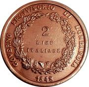 2 Lire (Lega Lombarda) – revers