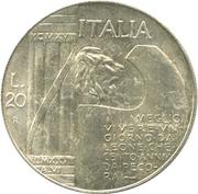 20 Lire (Mussolini) – avers