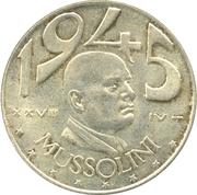 20 Lire (Mussolini) – revers
