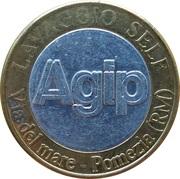 Jeton de lavage automobile - Autolavaggio Agip Self-Service (Pomezia) – avers