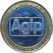 Jeton de lavage automobile - Agip Self-Service (Torino) – avers