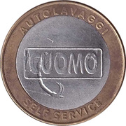 Jeton de lavage automobile - Cuomo Autolavaggi (Pescia, Tuscany ) – revers