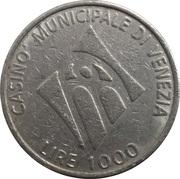1000 Lire - Casino Municipale (Venice) – avers