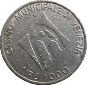 1000 Lire - Casino Municipale (Venice) – revers