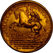 2 Lire - Vittorio Emanuele III. (Exposition à Milan) – revers