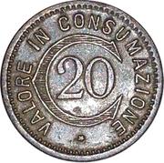 20 centesimi - Ettore Ferrari (Milano) – revers