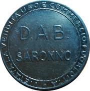 Jeton - D.A.B. Saronno – avers