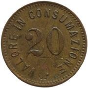 20 Centesimi - Valore in consumazione – avers