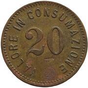 20 Centesimi - Valore in consumazione – revers