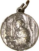 Religious Medal - Terra Catacombe Roma - Cecilia – revers