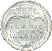 Token - U.I.T.E. Genova – avers