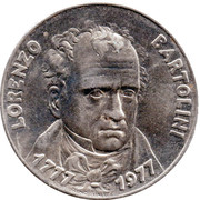 Jeton - Lorenzo Bartolini – avers