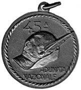 Medal - 45° Adunata Nazionale Alpini – revers