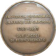 Medal - Italy and Switzerland Borderlands Friendship – revers