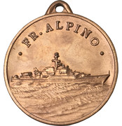 Medal - Frigate Alpino F 580 – avers