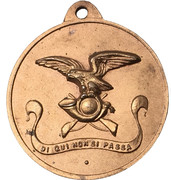 Medal - Frigate Alpino F 580 – revers