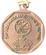 Medal - 74° Adunata Nazionale Alpini – revers