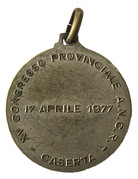 Medal - XV Congresso provinciale A.N.C.R. (Caserta) – revers