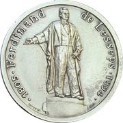 Médaille - 100e anniversaire de la mort de Ferdinand de Lesseps – avers