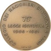 Médaille - Collegio dei Ragionieri di Milano e Lodi – revers