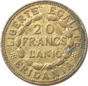 20 Francs marengo reproduction – revers