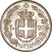20 lire - Umberto I (copie) – revers