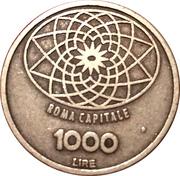 1000 lire (reproduction) – revers