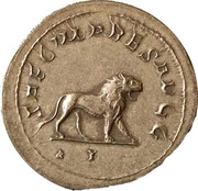 Jeton - Mister Day Parmalat (Antoninianus - Philippus I; SAECVLARES AVGG; Ludi Saeculares - Lion) – revers