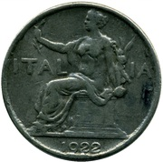1 Lira - Vittorio Emanuele III (contrefait) – avers