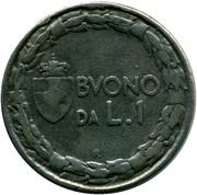 1 Lira - Vittorio Emanuele III (contrefait) – revers