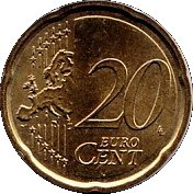 20 cents d'euro (2e carte) -  revers