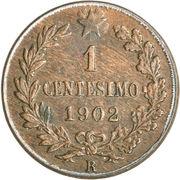 1 centesimo Victor-Emmanuel III – revers