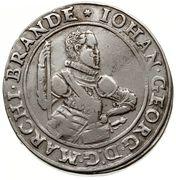 2 thaler Johann Georg – avers