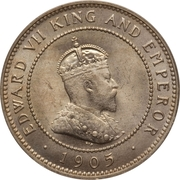 ½ penny - Edward VII – avers