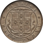 ½ penny - Edward VII – revers