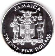 25 dollars Anniversaire de la découverte de la Jamaïque -  avers