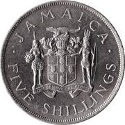 5 shillings (Jeux du Commonwealth) – avers