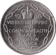 5 shillings (Jeux du Commonwealth) – revers