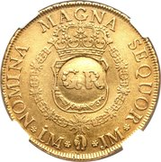 Doubloon, 5 Pounds (contremarque) – revers