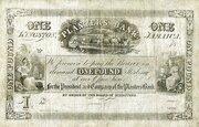 1 Pound (Planters' Bank) – avers