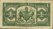 1 Pound (The Royal Bank of Canada) – revers