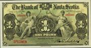 1 Pound (Bank of Nova Scotia) – avers