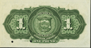 1 Pound (Bank of Nova Scotia) – revers