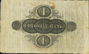 1 Pound (Colonial Bank) – revers