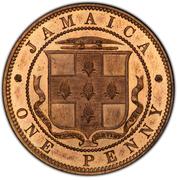 1 Penny - Victoria (piedfort) – revers