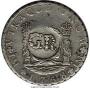 6 Shillings 8 Pence (Countermarked coinage) – revers