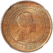 1 penny - Edward VII – avers