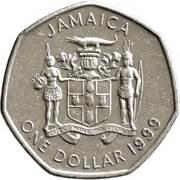 1 dollar -Sir Alexander Bustamante (heptagonale) -  avers