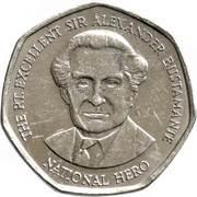 1 dollar -Sir Alexander Bustamante (heptagonale) -  revers